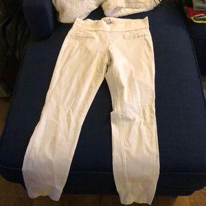 White guess pants